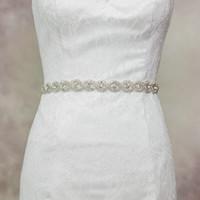 Wholesale High End Girls Dresses - Original Handmade Women Designer Accessories Belt Bride High-end luxury Wedding Dress Belts Sashes Party Prom Girdle R28 New