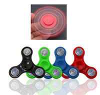 Wholesale Two Finger Edc - Two style Hand Spinner Fingertips Spiral Fingers Fidget Spinner Toy EDC Hand Spinner Acrylic Plastic Fidgets Gyro Anxiety Toys Gift for Kids