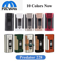 Wholesale Temperature Controlled - Original Wismec Predator 228W Box Mod New Colors 228 Watt 10 Colors Temperature Control TC Mod 50A Powerful Vape Mod