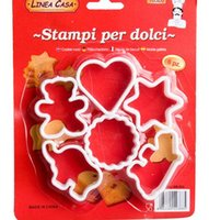 ingrosso artigianato in plastica-6 pezzi di plastica vari forma biscotto o frutta cutter strumenti di cottura pasticceria fai da te biscotto biscotto muffa muffa del cioccolato artigianale