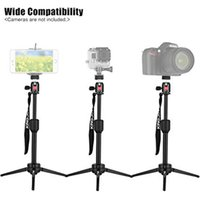 Wholesale Tripods For Video Dslr - KT-200+BD-1 Portable Aluminum Alloy Mini Video Tabletop Tripod with Swivel Ball Head for Smartphones, and Most DSLR Cameras with 1 4