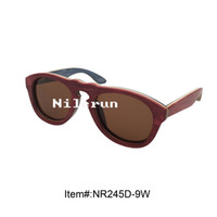 Wholesale Different Sunglasses - fashion cat eye different layeres colored skateboard wood sunglasses