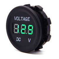 Wholesale waterproof motorcycle voltmeter - DC12V LED Digital Display Voltmeter Waterproof for Boat Marine Vehicle Motorcycle Truck ATV Camper Carav- Red Green Blue LED Display