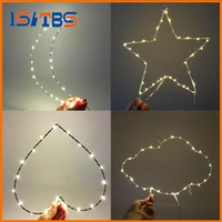 Led Night Light Décoration de chambre à coucher Fairy Battery Operated String Lights for Christmas Wedding Party 5 Style