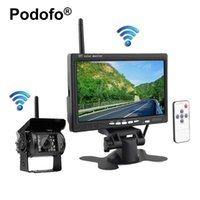 Wholesale Truck Wireless Rear View Monitor - car Wireless Truck Vehicle Backup Camera & 7 inch HD Monitor IR Night Vision Parking Assistance Waterproof Rear View Camera