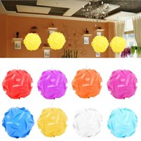 Wholesale DIY Modern Pendant Ball Lamp Shade Lampshade Puzzle Pendants Colorful Pendant Lights Covers DIY Ceiling Modern Design