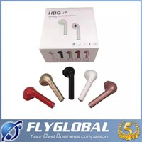 Wholesale I Phone Earphones - 2017 NEW HBQ I7 Mini Bluetooth Earbud Single Wireless Invisible Headphones Headset With Mic Stereo bluetooth Earphone for I-phone Android