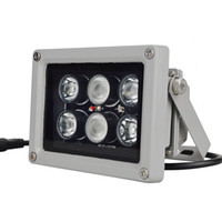 ingrosso ir si illumina-12V 60m 6 PCS LED Array Illuminatore IR Lampada a infrarossi Led Luce Esterna Impermeabile per telecamera CCTV Telecamera di sorveglianza 6 Arrey Luce IR