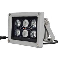illuminateur a mené l'éclairage achat en gros de-12V 60m 6 PCS LED Array IR lampe infrarouge lampe Led lumière extérieure étanche pour caméra de vidéosurveillance Caméra de surveillance 6 lumière arrey IR