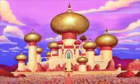 palácio do pano de fundo venda por atacado-7x5ft Aladdin Palace Daylight Gold Castelo Personalizado Foto Estúdio Backdrop Bandeira Vinil 220 cm x 150 cm