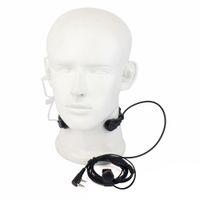 micrófono de la garganta al por mayor-Al por mayor-Extensible PTT micrófono garganta Mic auricular auricular para CB Radio Walkie Talkie para BAOFENG UV-5R UV-5RE UV-B5 UV-82 GT-3