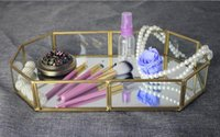 Wholesale Makeup Table Organizer - Cosmetic table storage box jewelry necklace makeup display casket organizer storage ring pendant lipstick dry flowers display