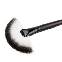 Wholesale Cosmetic Fan Brushes Wholesale - Wholesale- Soft Makeup Large Fan Brush Blush Powder Foundation Make Up Tool Cosmetics Brush