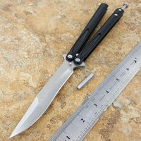 "Wholesale Aluminum Bearing - MT Tachyon 3 Balisong Butterfly Knife (4.5"" stonewash) ball-bearing D2 blade aluminum handle"