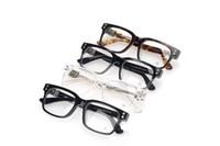 retro style eyeglasses al por mayor-Diseñador de la mejor marca de moda Chrome Eyeglass hembra HEY JACKULATE-A mujer hombre modelos estilo retro Plata Vintage Gafas ópticas con estuche