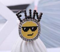 Wholesale Harajuku Brooch - 2018 pins wholesale brooch rhinestone brooches harajuku animal brooches rhinestone jewelry 1