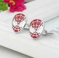 French Cufflinks Mens Cuff Links For Men Trend Jewelry Metal Spider Man Sign Shirt Accessories Party Decoration Dhl Free Christmas Gift