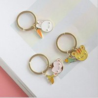 Wholesale Monkey Rings Jewelry - New Monkey Keys Rings Unisex for Women & Men New gold plated Rabbits Keys rings Cats boys girls Fashion Jewelry for gifts