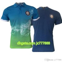 Wholesale mens t shirts quick dry - 2017 Soccer POLO shirt Inter Mens T-Shirts Italy Training 17 18 ICARDI CANDREVA Mens Short SLeeve soccer Polo Shirts