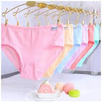 Wholesale Cheapest Girls Underwear - DHL free shipping Candy colored cotton briefs panties underwear women simple solid briefs girls lady underwear cheapest wholesale hot sale
