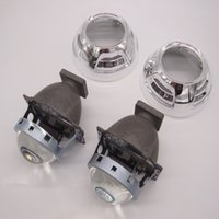 Wholesale Projector Shrouds - 2pcs 3.0 Inch Car Bi-Xenon HID Projector Lens Kit with shroud HID bulb For car headlight high low beam H1 H4 H7