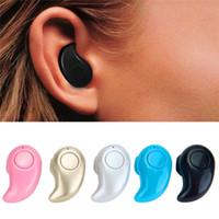 bluetooth kulaklık perakende kutusu toptan satış-S530 Mini Kablosuz kulak Kulaklık Bluetooth Kulaklık Akülü Eller serbest Kulaklık Stereo Auriculares Kulakiçi Kulaklık Telefon ile perakende kutusu
