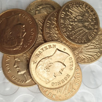 Wholesale Germany Gold Coins - Full Set (1902-1912) 9pcs Germany Bavaria 10 Mark Gold Plated Copy Coins metal craft