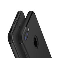 тонкие телефоны оптовых-Новый тонкий тонкий цвета матовый силиконовый чехол для телефона iPhone 7 TPU резиновая мягкая задняя крышка для iphone 7 Plus с пылезащитной заглушкой