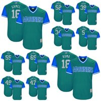 Baseball spun sugar - 2017 Little League World Series Mariners Ben Gamel Carlos Ruiz Chooch Edwin Diaz Sugar Felix Hernandez King Felix Mens Kids Baseball Jerseys