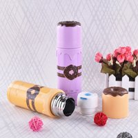 Atacado- Lovely Cute Stainless Steel Isolado Thermos Cup Caneca de café Travel Drink Bottle Vacuum Flasks Cup