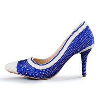 Wholesale Kitten Heel Evening Shoes Silver - Sexy Pink Rhinestone Pointed Toe Bride Shoes Ankle Straps Gorgeous Wedding Evening Party Pumps Fashion Handmade Middle Heels
