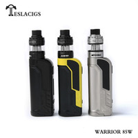 Wholesale metal warriors - Original Tesla Warrior Starter Kits 85W Box Mod With H8 Mini Tank Taste control function E Cigarette Kit Teslacigs 100% Authentic