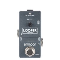 Wholesale Guitar Loop - ammoon AP-09 Nano Loop Electric Guitar Effect Pedal Looper True Bypass Unlimited Overdubs 10 Minutes Recording with USB Cable I1995