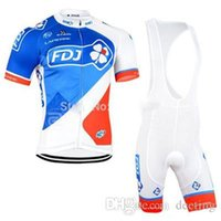 Wholesale Team Edition Cycling Clothing - 2017 FDJ Team Cycling Jersey Set Limited Edition Short Sleeves Bicycle Clothes Breathable Cycling Clothing ( Cycling Top + Padded Shorts )