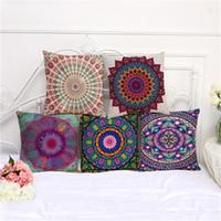 Wholesale Indian Cushion Covers - Mandala Indian Ombre Pillow Case Hippie Boho Throw Cushion Cover Floor Pillow Cover Bohemian Pillowcase Sofa Car Decoration 0707015