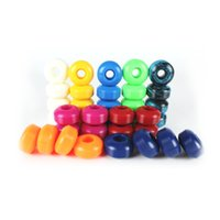 Wholesale Skateboard Double - Wholesale- Free Shipping 4pcs Skateboard Wheels 100A Double Rocker Wheels 52mm*32mm PU downspeed sliding Wheels