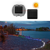 Wholesale Visible Led - Solar Power LED lights Path Driveway Pathway Deck Light Outdoor Garden Road Dock Lamp 6Leds 500M Visible Distance Security Light