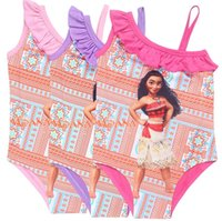 Wholesale Swimming Suits Childrens - 2017 Moana Swimwear Summer Girls Childrens Swimsuit Clothing Beach Bikinis Bathing Suit Newest Cartoon Boutique Swim Clothes