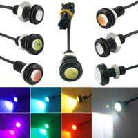 Wholesale Eagles Eye Lens - 10pcs lot Power 3W Lens Ultra-thin 18mm Car LED Eagle Eye Tail light Backup Rear Lamp DRL Light 7 Colors #1020