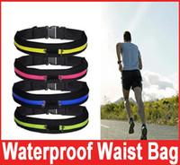 Wholesale Sports Waist Shape Wholesaler - Running Waist Bag for Men Women Sport Waist Packs Waterproof Mobile Phone Single Double Waist Bags Outdoor Bag Travel Pocket Purse 6colors