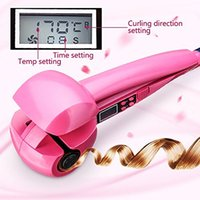 Wholesale Blue Steamer - LED Display Hair Curler Roller Iron Wave Styler Tool Curl Machine Steamer Magic Ceramic Curling Iron Automatic Hair
