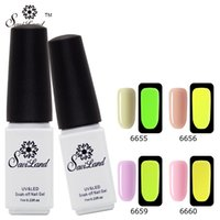 Vente en gros Saviland 1pcs Soak Off Gel UV Vernis Fluorescent Neon Luminous Gel Vernis à ongles en Dark Esmalte Gel ongles Gel
