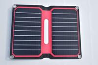 células solares dobráveis venda por atacado-Solarparts portátil dobrável carregador solar 5 V / 10 W Vermelho ETFE lamianted flexível all-in-one alta eficiência 12 V painel solar celular ferramentas ao ar livre