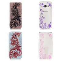 Wholesale tiger galaxy - Soft TPU Case For Galaxy S7 Edge (A3 A5 A7 J3 J5 J7)2017 Mandala Henna Floral Lace Tiger Back Butterfly Flower Paisley Clear Tiger Cover