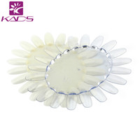 Wholesale Oval Gel Nails - KADS 1pc Oval Nail Art Display Chart Natural Wheels 20 Tips Trainers Practice Ellipse Plastic Gel Polish Plate