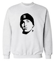 Wholesale Tracksuits Men Usa - Wholesale-USA Rapper Eminem sweatshirt 2016 autumn winter new fashion men hoodies hip hop style cool streetwear tracksuit clothing