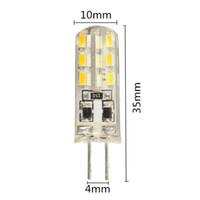 melhores preços levaram lâmpadas venda por atacado-Melhor Preço DC12V 1.5 W G4 LEVOU Luz 200 Lumen 3014 SMD 24 LED Lâmpada De Poupança De Energia Lâmpada de Sílica Gel Pura Branco Quente
