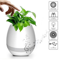 Wholesale Smart LED Wireless Bluetooth Speaker Music Flower Pot Touch Plant Speaker Wireless Smart Lounspeaker for Anxiety Stress Relief Gift