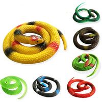 Wholesale Soft Rubber Gag - Party Joke Funny Gags Trick Toy Halloween Gift Tricky Funny Spoof Toy Simulation Soft Scary Fake Snake Rubber Horror Toy