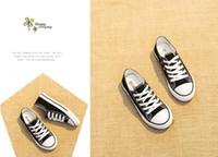 tops para chicas mas bajas al por mayor-Top Baby Classic Gift High low girls niño niños EUR 24-33 All star Canvas Zapatillas de skate Zapatillas de deporte